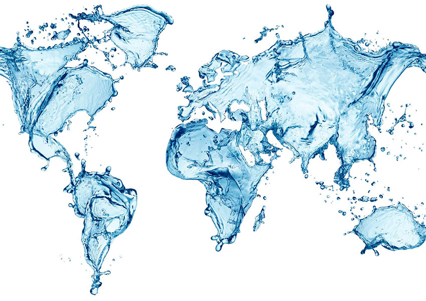 mapa de agua